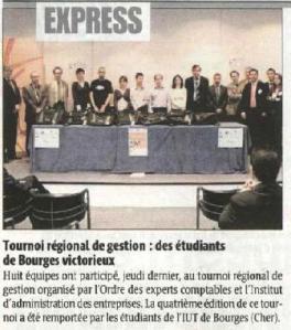 Article paru dans La République du Centre du 24 mars 2009