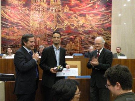 De gauche à droite : S. AUBAILLY, M.A. DAKKAM, E. DOLIGE