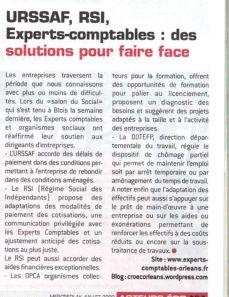 Article paru dans Acteurs Eco du 1.07.09