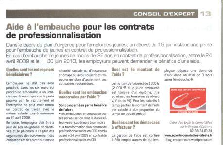 acteurs eco contrat de professionnalisation