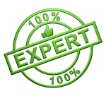 """""""100% Expert"""" Cachet (vert)"""