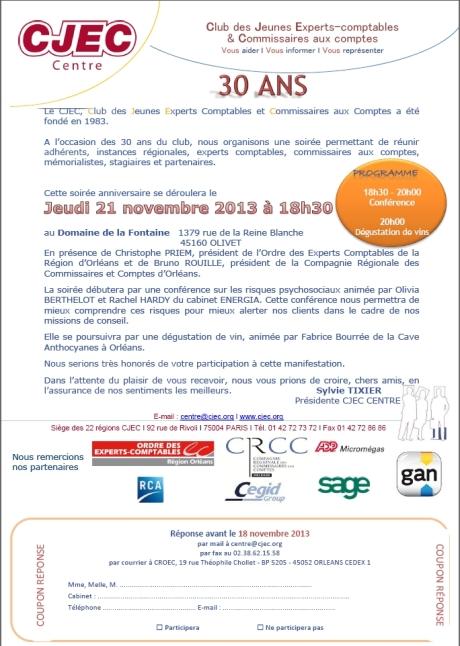 Invitation CJEC 30 ans